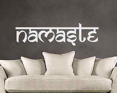 Sanskrit Namaste Vinyl Wall Lettering Decal Yoga Studio Meditation Hindu Decals