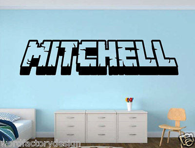 Gamer My Name decal name 3d looking