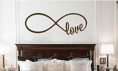 Love Infinity Loop Romantic Bedroom Wall Lettering Vinyl Decal Sticker Decor