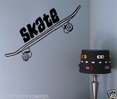 Skateboard Decal Perfect For the Skateboarder Skate Vinyl Wall Decal Sticker