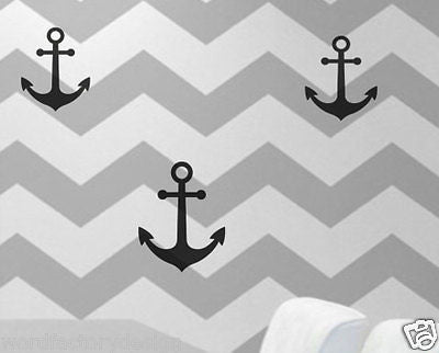 12 Pack of Anchors Peel and Stick Nautical Anchor Theme
