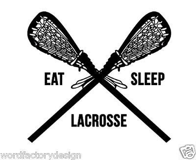 Large Detailed Lacrosse Vinyl Wall Decal Sticker - Sports room decor