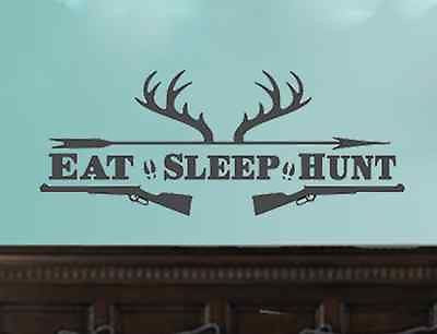 Eat Sleep Hunt Deer Antler Shotguns - Hunting Man Cave