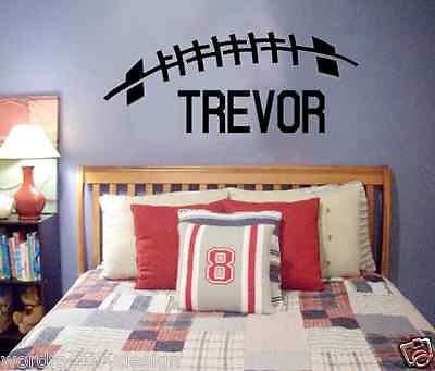 Large Custom Name Football Vinyl Wall Decal Football Sports theme Personalized