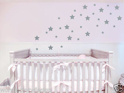 peel and stick stars removable vinyl wall decal art simple decor sticker - Simple Shapes Wall Design