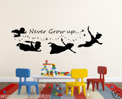 Never Grow up Peter Pan - also known as Peter and Wendy