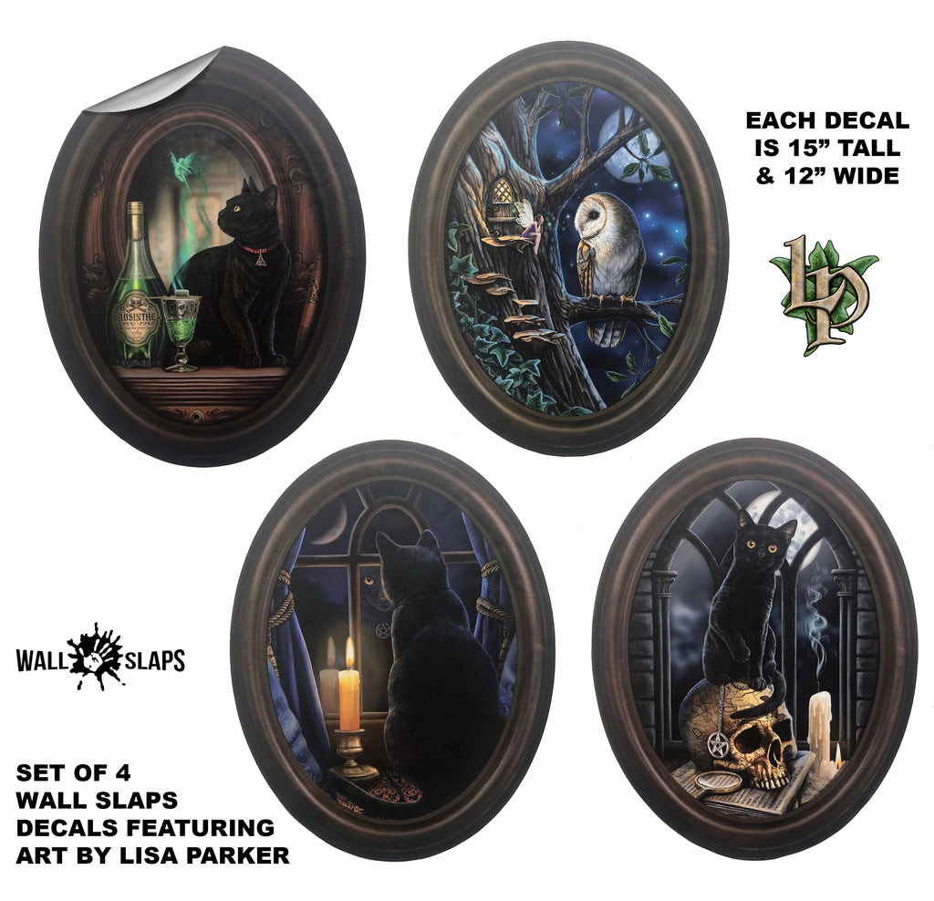 Set of 4 fantasy Frames - Wall Slaps Wall Decals