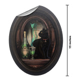 Lisa Parker Absinthe and Black Cat in Frame Wall Slaps Decal
