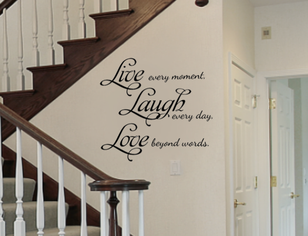 Live Laugh Love Removable Vinyl Wall Art Quotes Decal