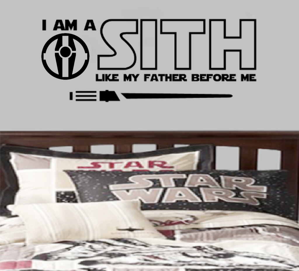 I am a Sith like my father before me lightsaber Star Wars Theme Jedi Parody