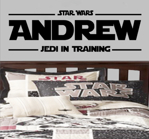 Jedi in Training Personalized Star Wars Name Decal
