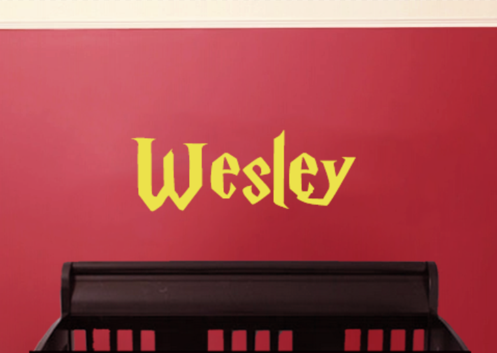Harry Potter Wall Decal With Customized Name Vinyl Wall Lettering Personalized