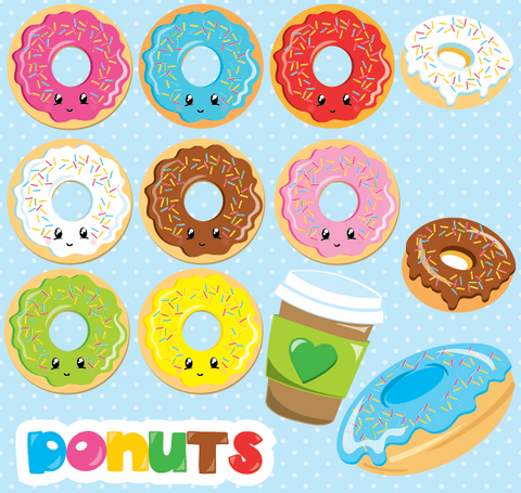 Fun Donut Themed - Prettygrafik Licensed Collection Removable Wall Decals