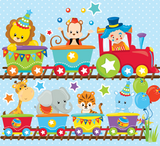 Circus Party Train - Prettygrafik Licensed Collection Removable Wall Decals