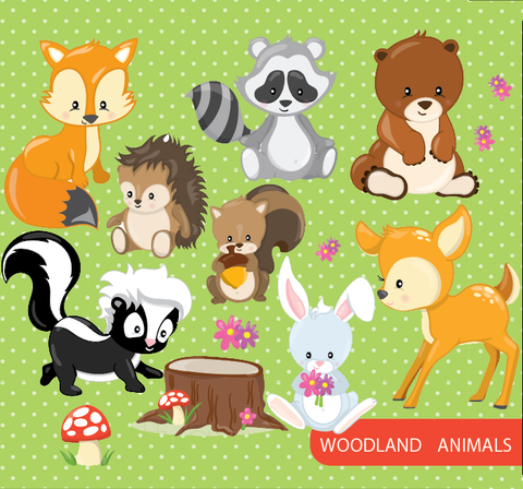 Woodland Animals - Prettygrafik Licensed Collection Removable Wall Decals