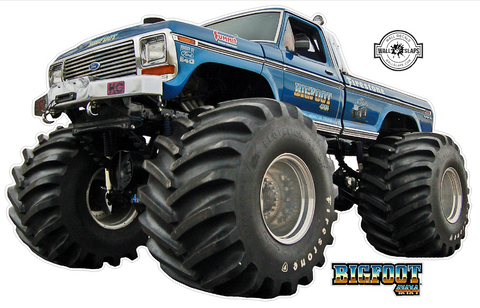 BigFoot 4x4 Monster Truck Wall Decal - 12 inches tall #T2