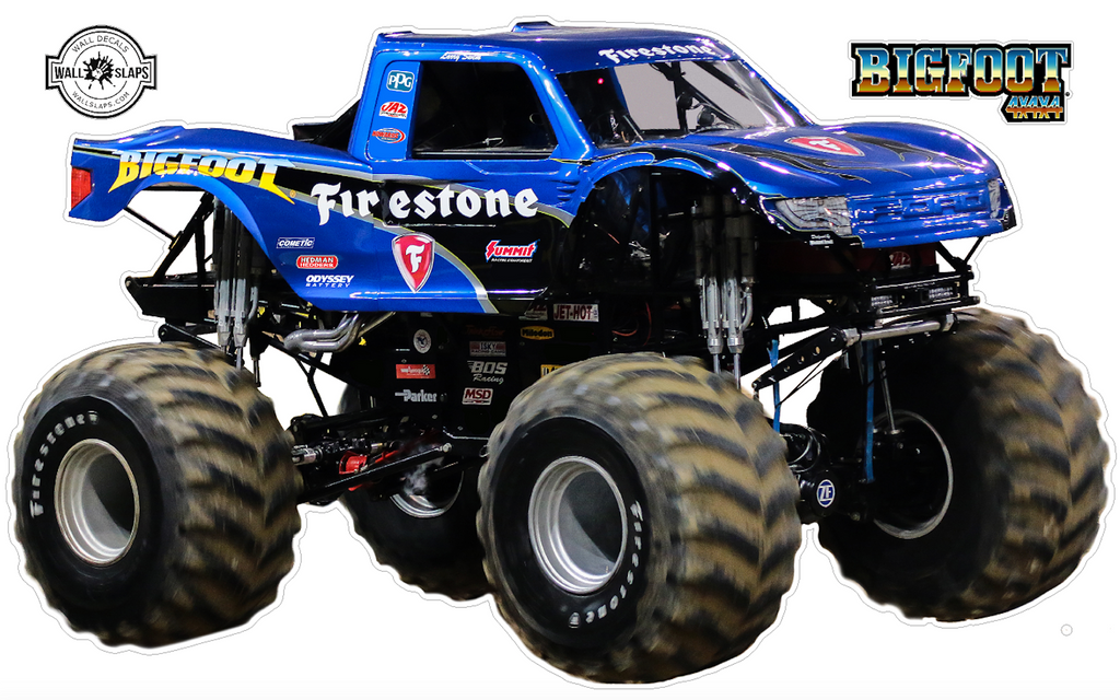 BigFoot 4x4 Monster Truck Wall Decal - 12 inches tall #T3