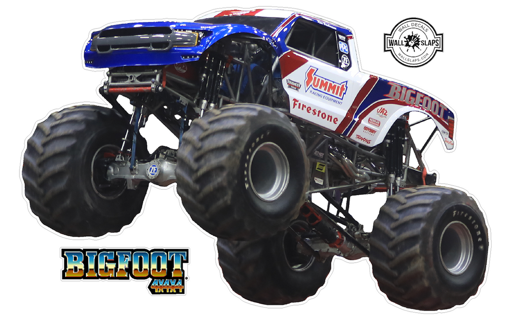 BigFoot 4x4 Monster Truck Wall Decal - 12 inches tall #T4