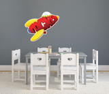 PBS Kids WordWorld Rocket to the Moon Wall Decal, Removable, Repositionable, & Educational