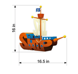 PBS Kids WordWorld Pirate Ship Wall Decal, Removable, Repositionable, & Educational