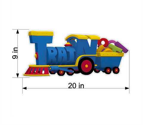 PBS Kids WordWorld Train Wall Decal, Removable, Repositionable, & Educational