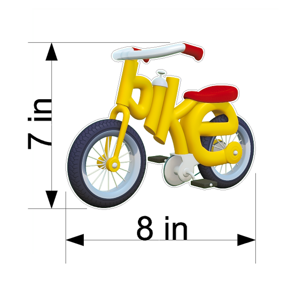 PBS Kids WordWorld Bike Wall Decal, Removable, Repositionable, & Educational