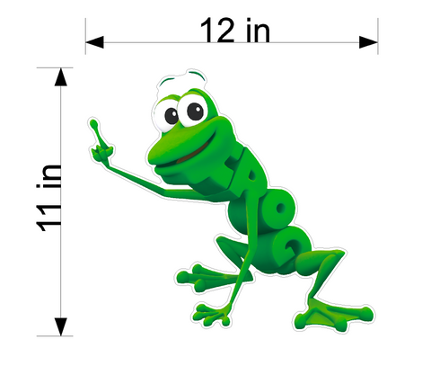 PBS Kids WordWorld Frog Wall Decal, Removable, Repositionable, & Educational