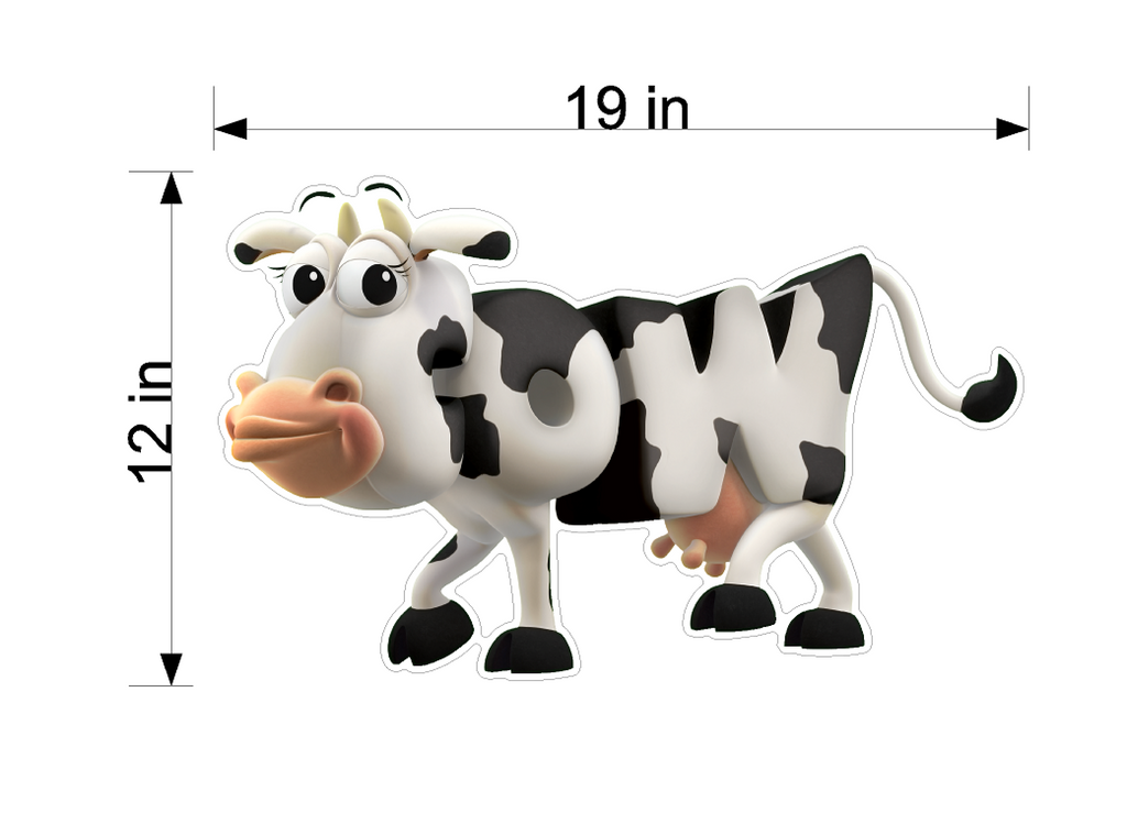 PBS Kids WordWorld Cow Wall Decal, Removable, Repositionable, & Educational