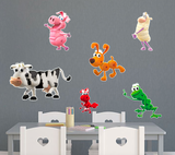 PBS Kids WordWorld WordFriends Animal Set Large Wall Decals