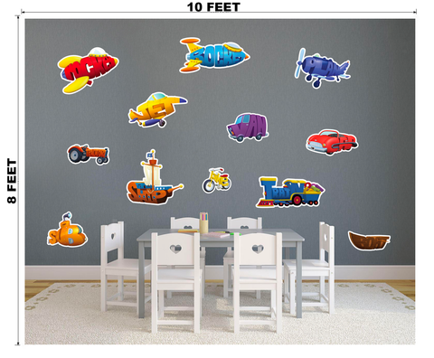 PBS Kids WordWorld Transportation Decal Set