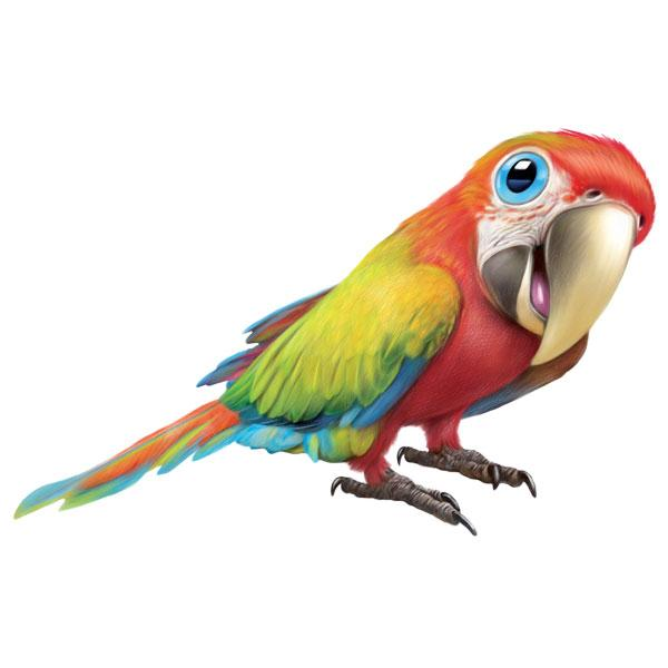 "Ara Macaw 12"" Wall Slaps Decal"