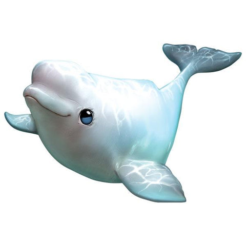 "Beluga Whale 12"" Wall Slaps Decal"