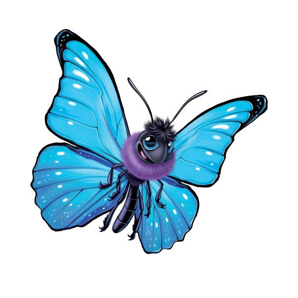 "Butterfly 12"" Wall Slaps Decal"