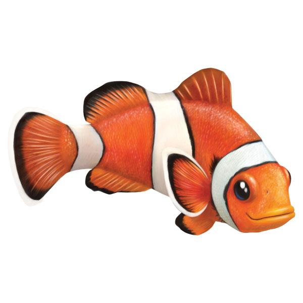 "Clown Fish 12"" Wall Slaps Decal"