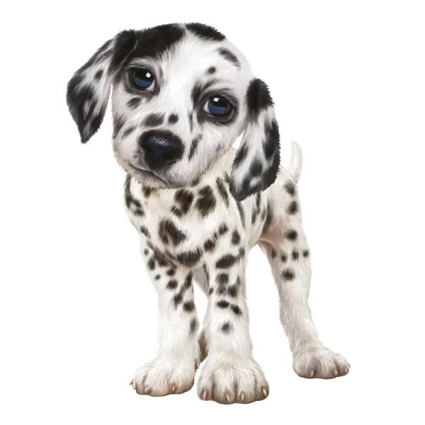 "Dalmatian 12"" Wall Slaps Decal"