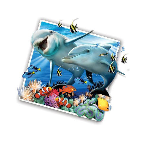 "Dolphins Selfie 12"" Wall Slaps Decal"