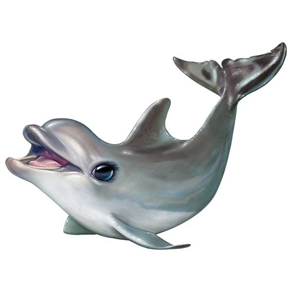 "Dolphin 12"" Wall Slaps Decal"