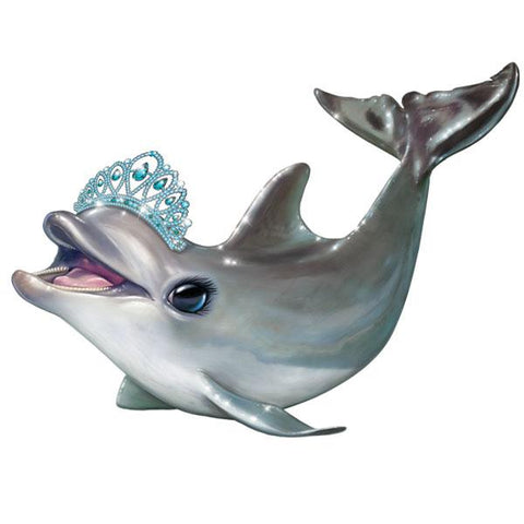 "Dolphin in Tiara 12"" Wall Slaps Decal"