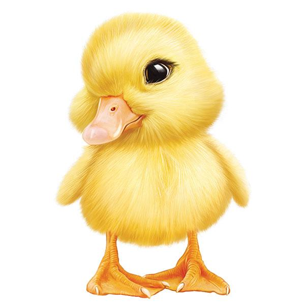 "Duckling 12"" Wall Slaps Decal"