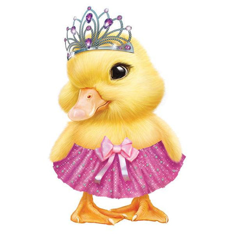 "Duckling in Tiara 12"" Wall Slaps Decal"