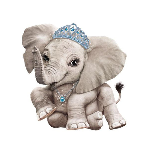 "Elephant in Tiara 12"" Wall Slaps Decal"