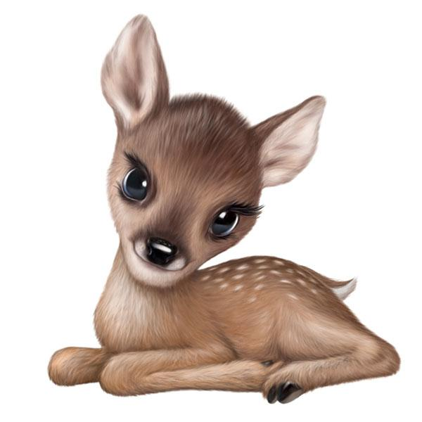 "Fawn Sitting 12"" Wall Slaps Decal"