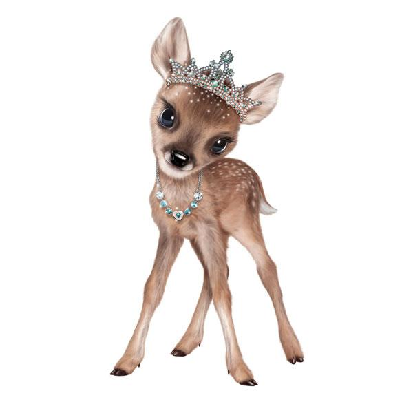 "Fawn in Tiara 12"" Wall Slaps Decal"