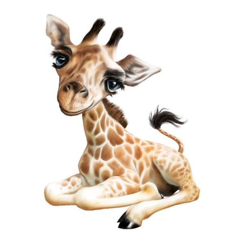 "Giraffe 12"" Wall Slaps Decal"
