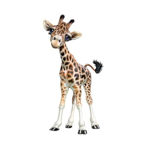 "Giraffe Standing 12"" Wall Slaps Decal"
