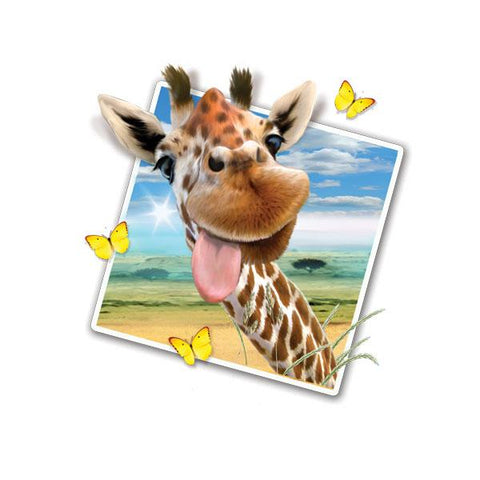 "Giraffe Selfie 12"" Wall Slaps Decal"