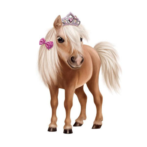"Horse in Tiara 12"" Wall Slaps Decal"