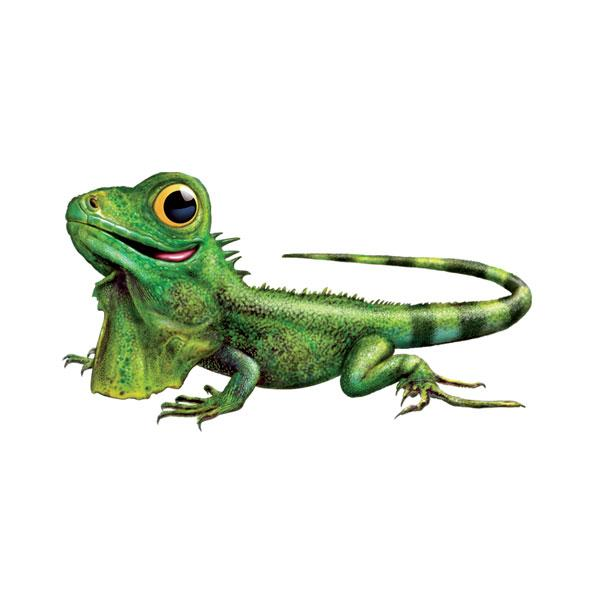 "Iguana 12"" Wall Slaps Decal"