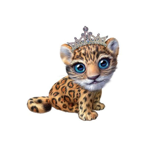 "Jaguar in Tiara 12"" Wall Slaps Decal"