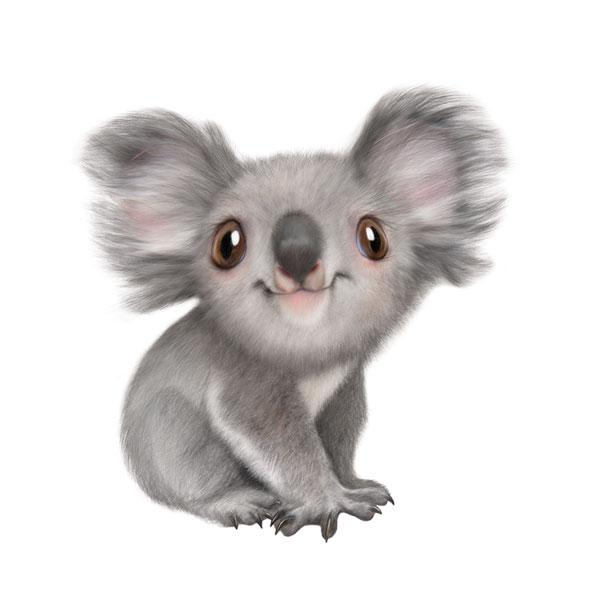 "Koala 12"" Wall Slaps Decal"